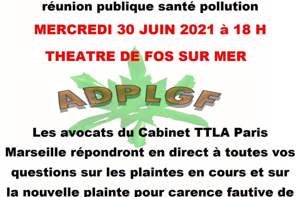 Réunion publique d'information SANTÉ POLLUTION
